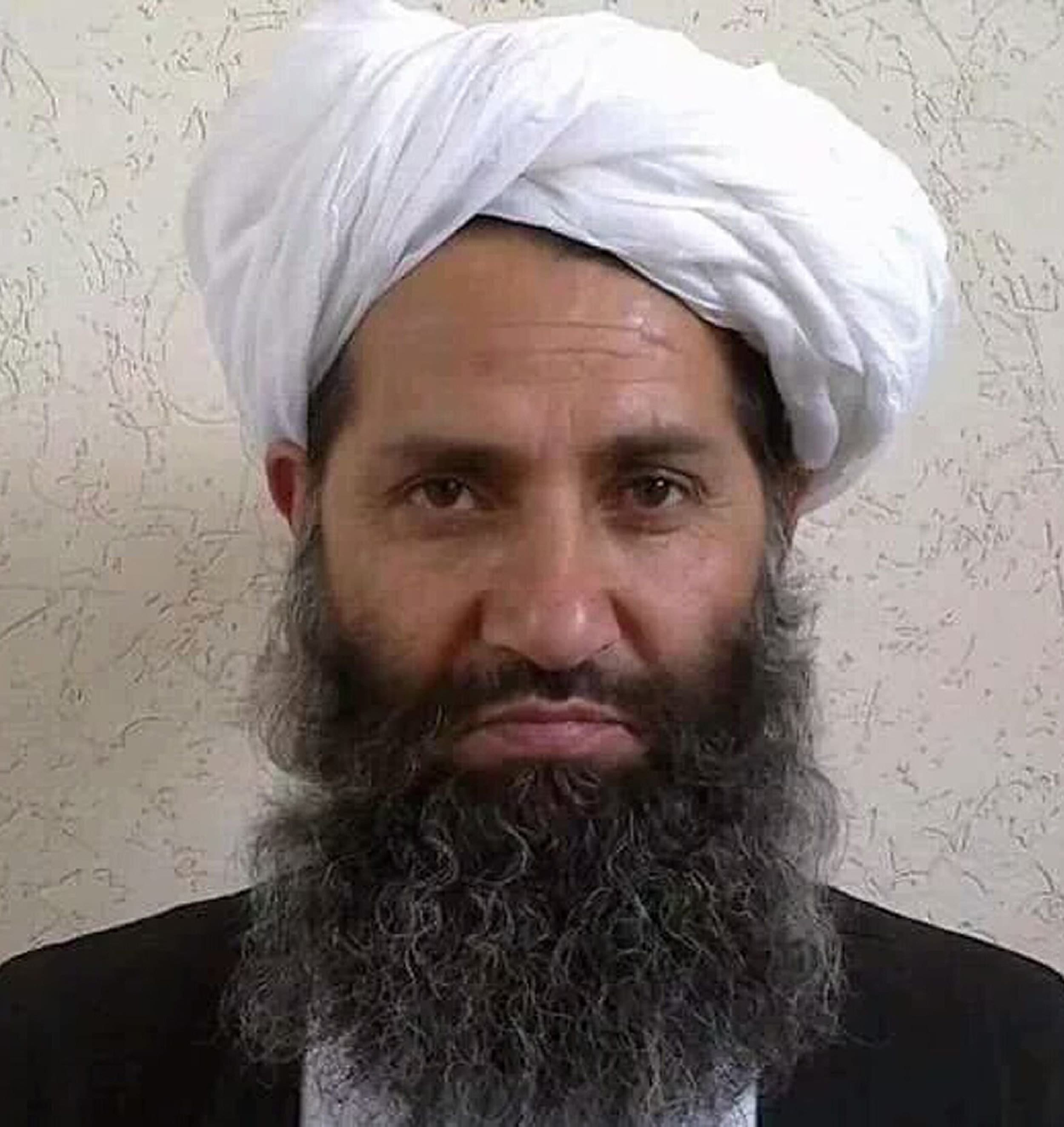 Image [Photo released by the Afghan Taliban on May 25, 2016 shows, according to the Afghan Taliban, Mullah Haibatullah Akhundzada posing for a photograph at an undisclosed location.][AFP]