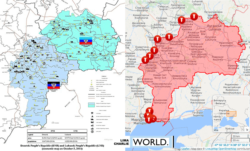 Image [Eastern Ukraine - Left: Donbass as of 2014; Right: Donbass as of April 20, 2019]