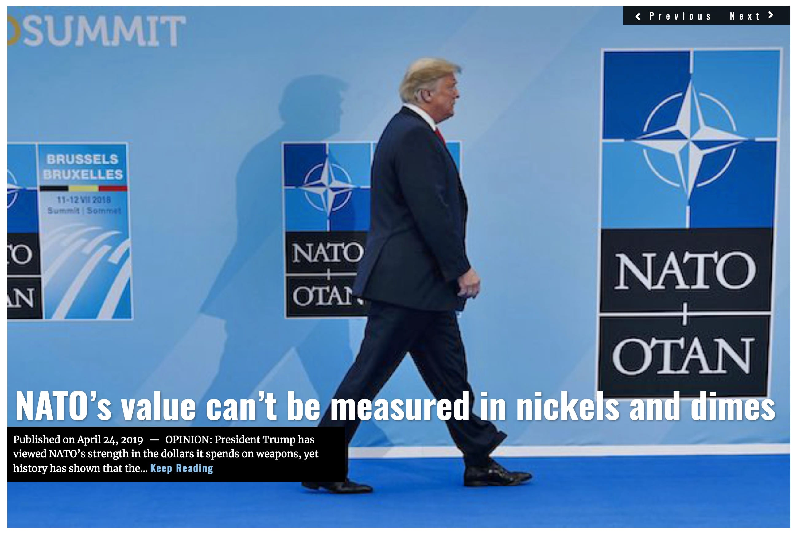 Image Lima Charlie News Headline NATOs value Trump APR 24 2019 M. Morford