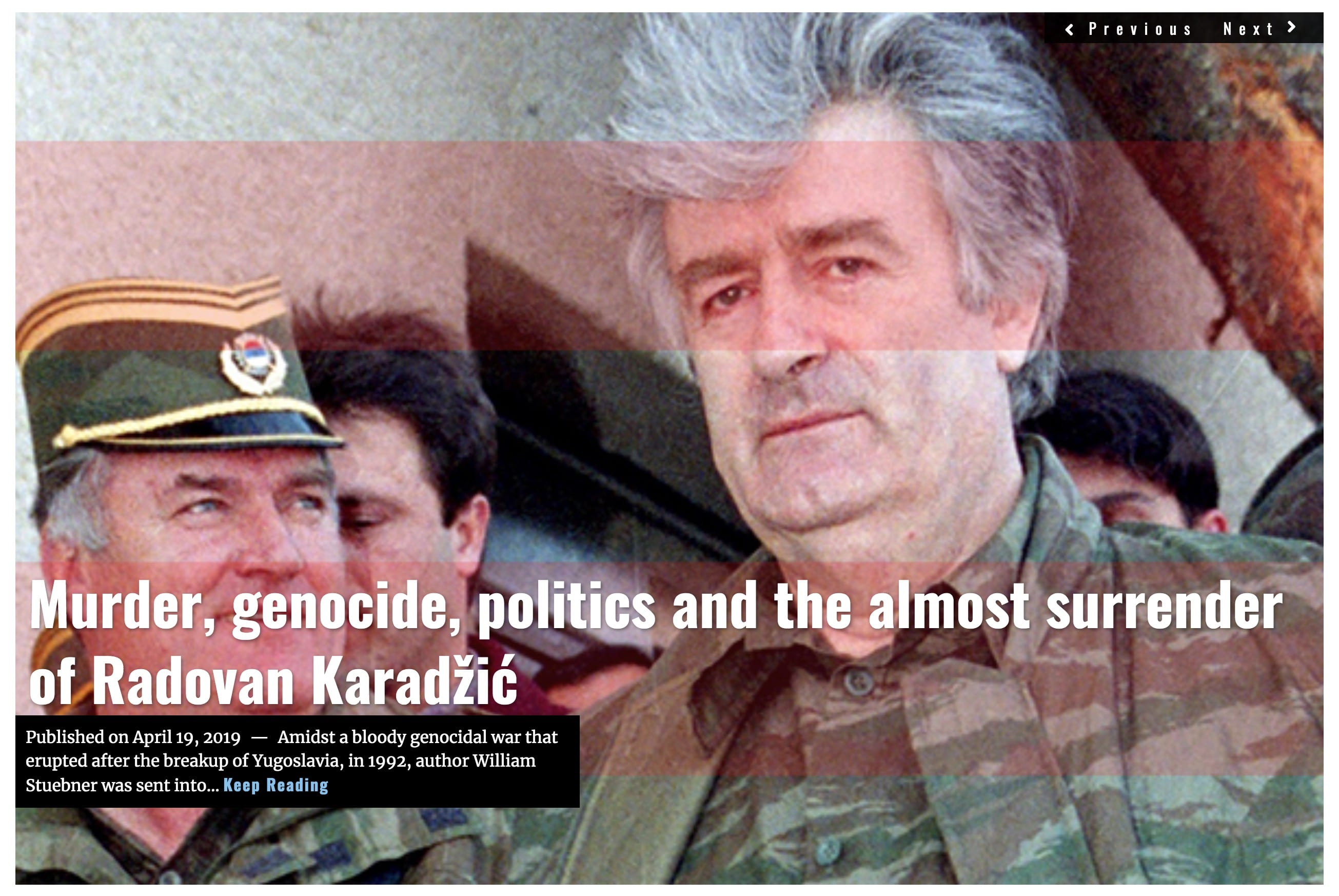 Image Lima Charlie News Headline - Radovan Karadzic - William Stuebner - APR 19 2019