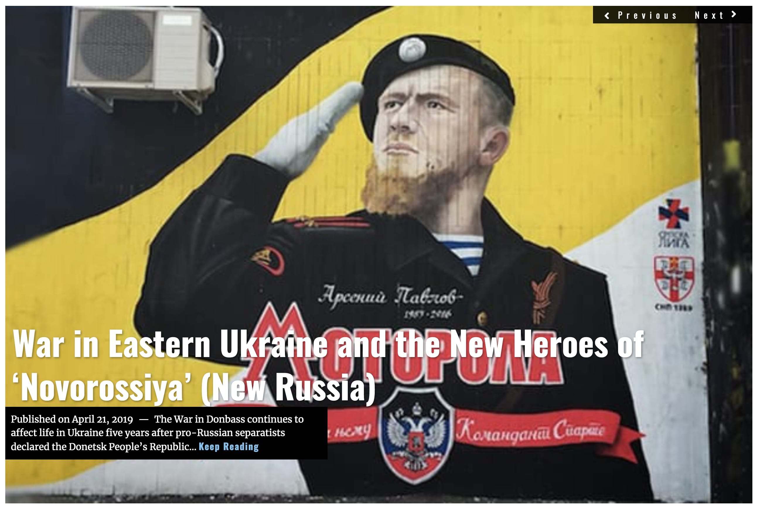Image War in Eastern Ukraine and the New Heroes of 'Novorossiya' (New Russia)