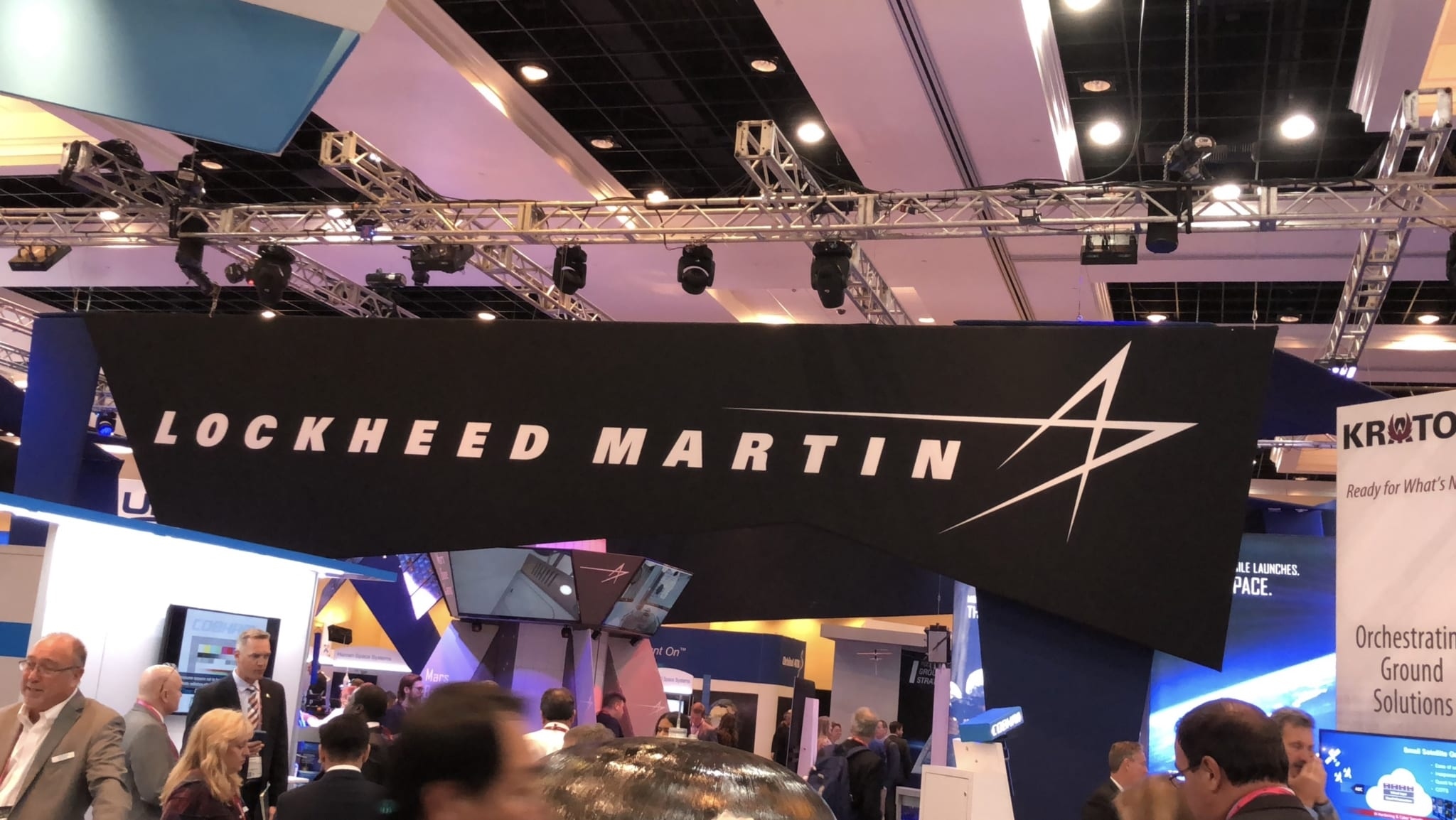 IMage Lockheed Martin at the 34th Space Symposium in 2018 (Photo: Don Martinez, Lima Charlie News