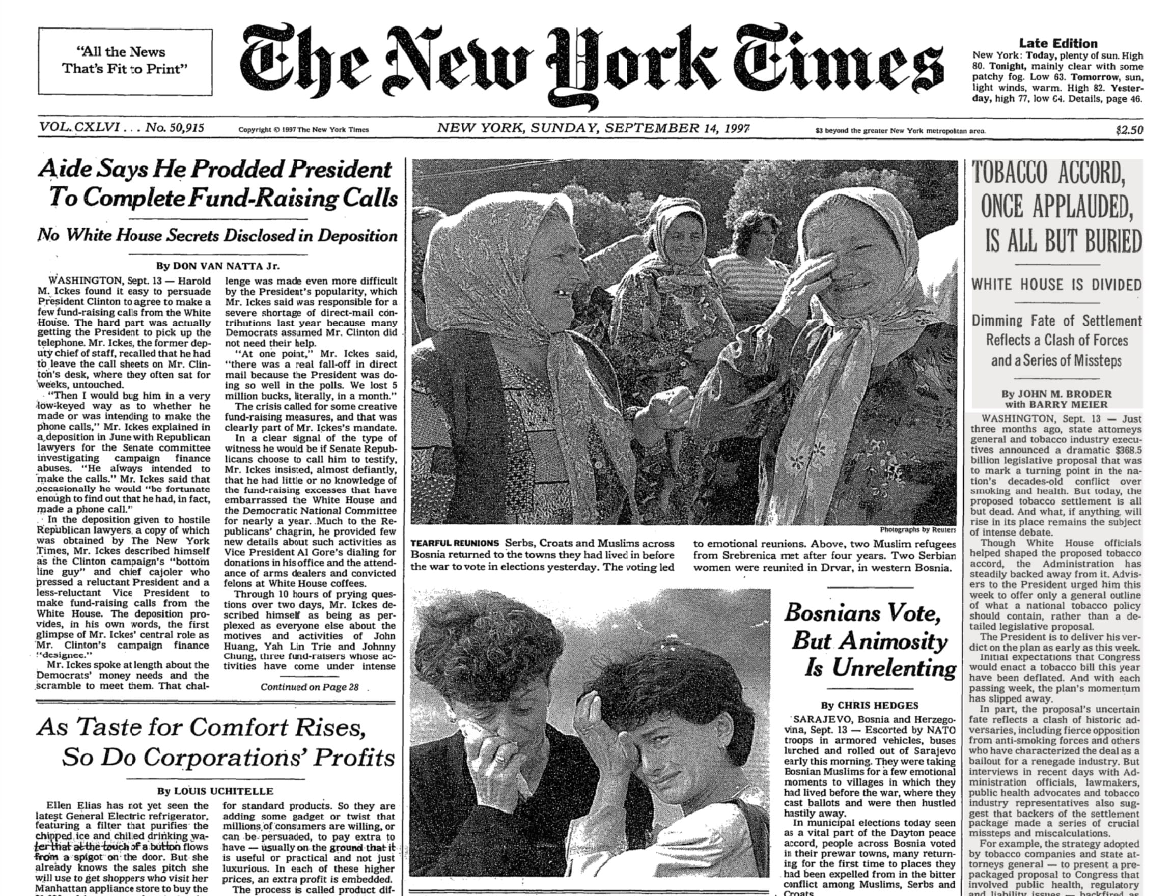 Image NY Times Bosnian War election