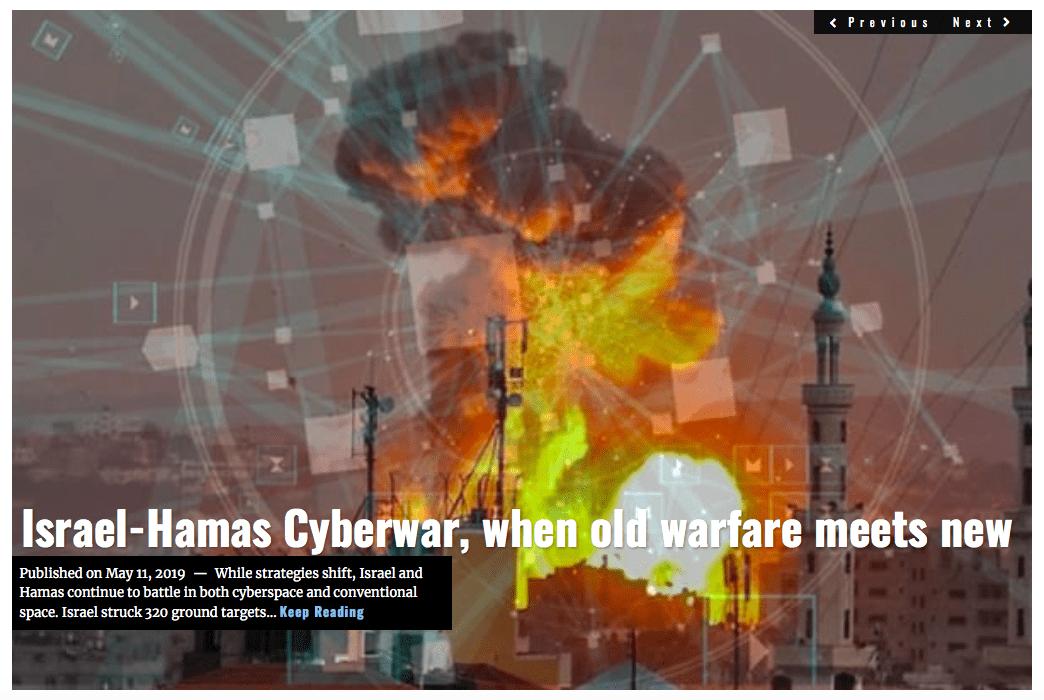 Lima Charlie News Headline Israel Hamas Cyberwar MAY 11 2019