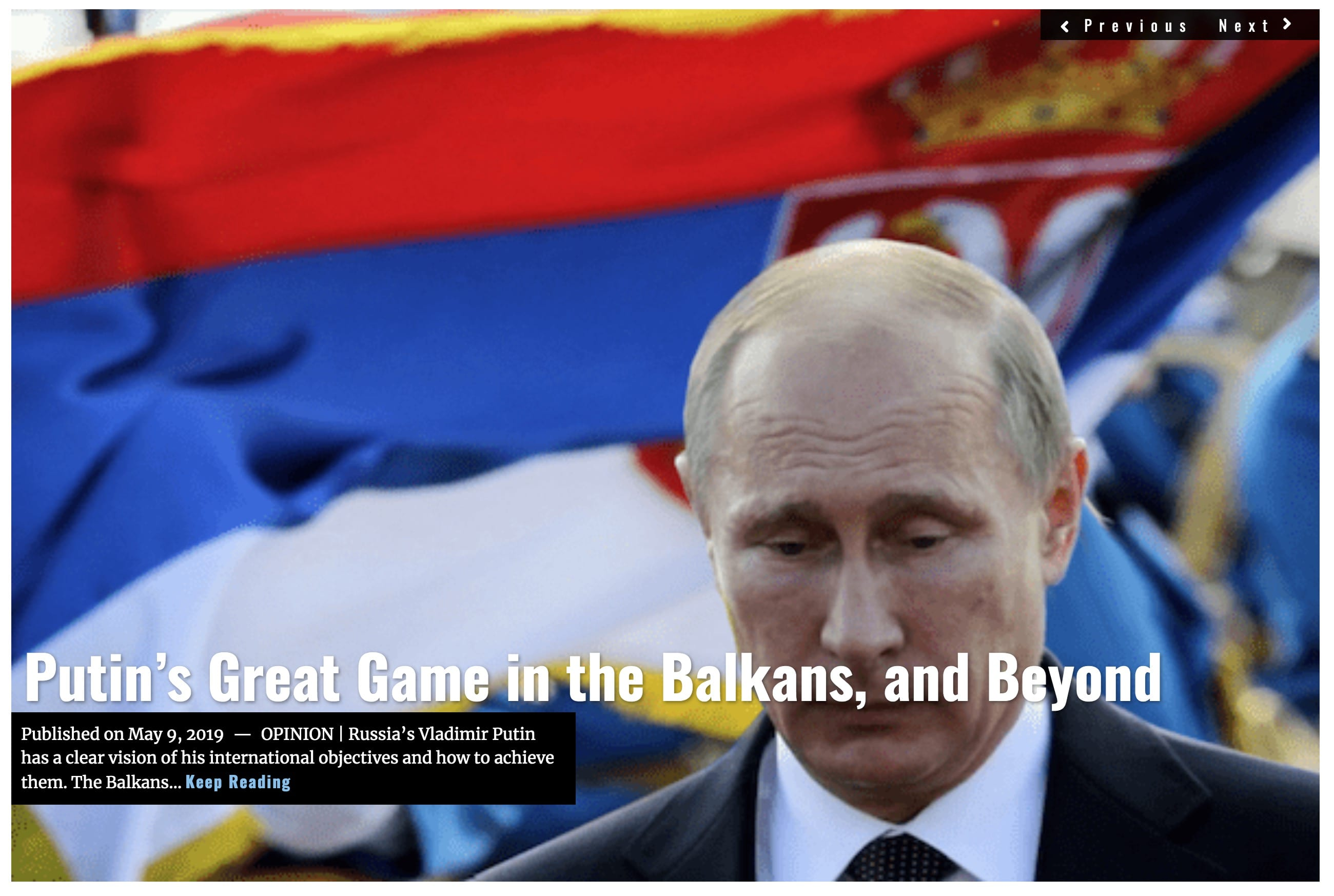 Lima Charlie News Headline Putins Great Game in the Balkans MAY 9 2019