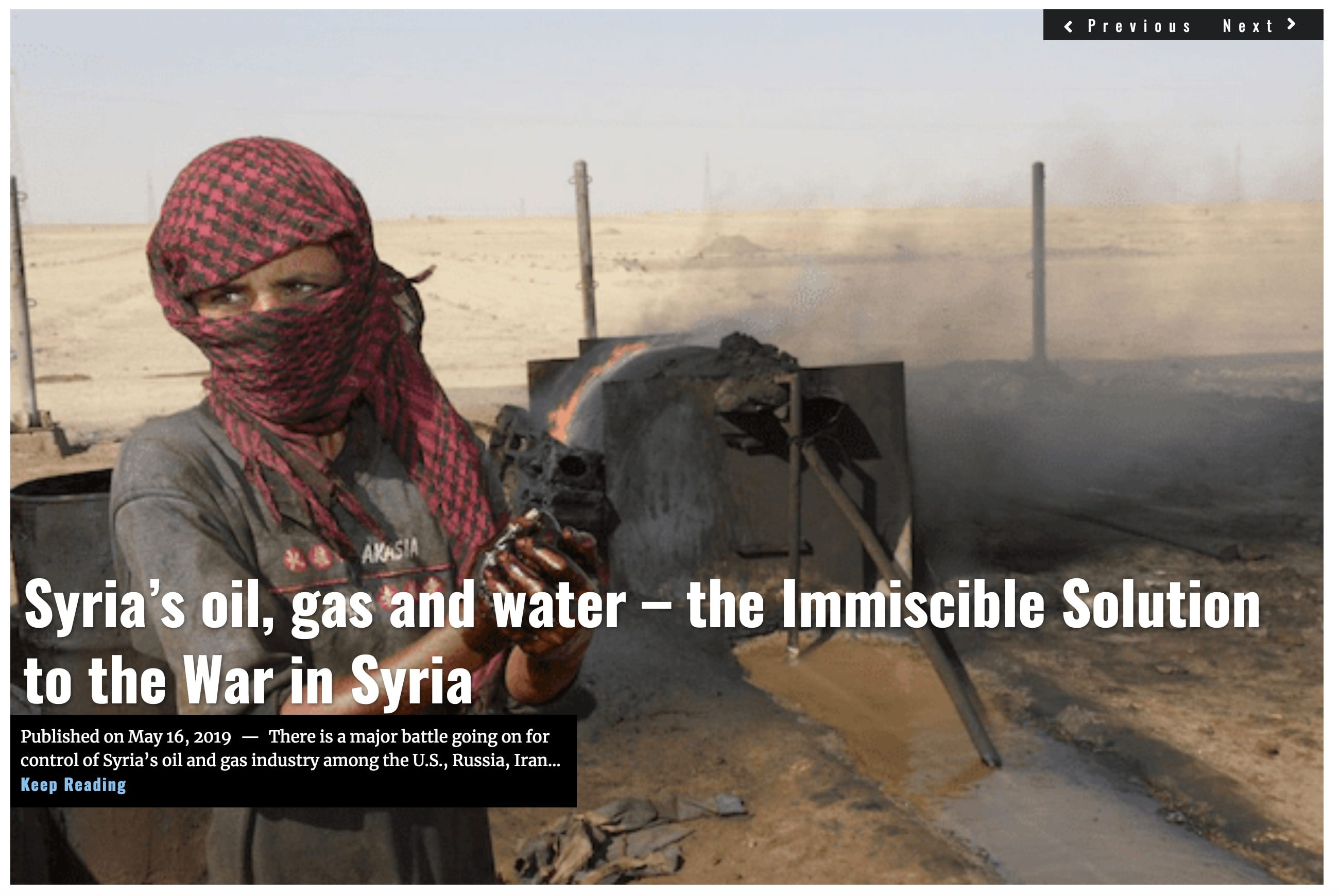 Lima Charlie News Syria's oil gas and water MAY 16 2019