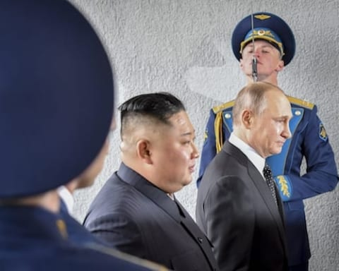 Image What exactly is the extent of Russia's influence on North Korea? [Lima Charlie News][Photo: Yuri Kadobnov]