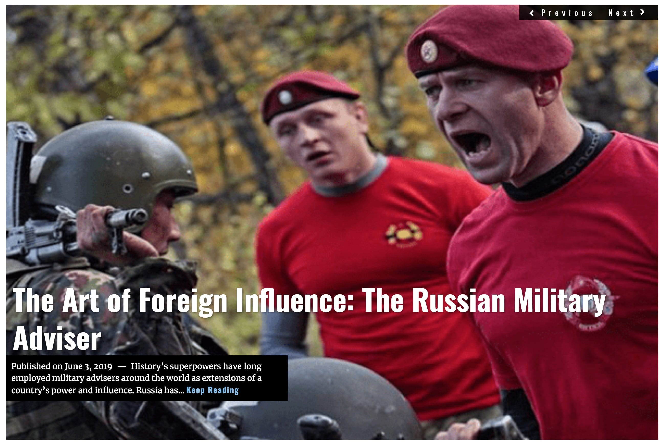 Lima Charlie News Headline Art of Foreign Influence Russian Military Adviser JUN 3 2019 DeAtkine
