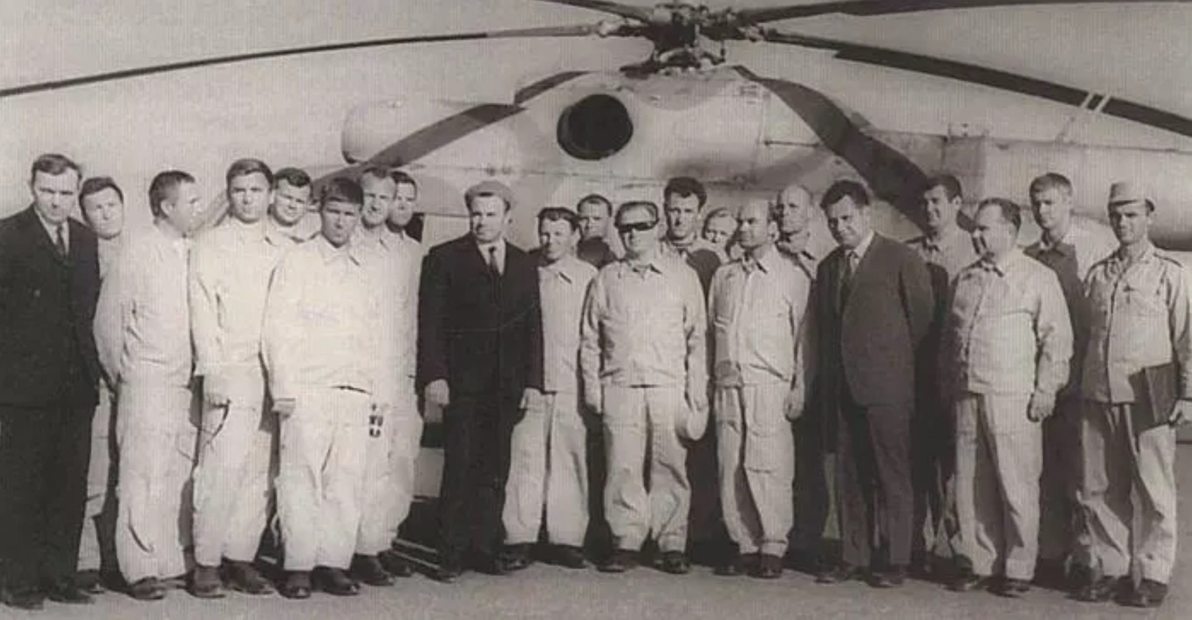 Commander-in-Chief of the USSR Air Force, Chief Air Marshal P.S. Kutakhov with the squadron pilots of the 135th air regiment, February 1972, Egypt.