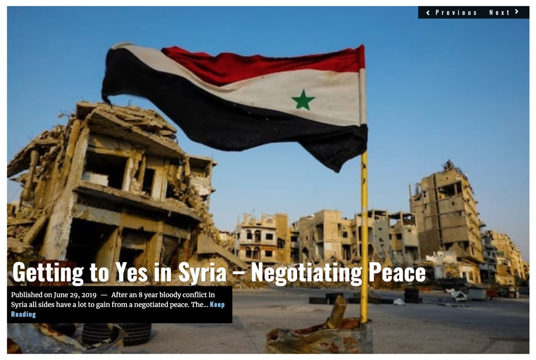 Lima Charlie News Headline Getting to Yes in Syria JUN 29 2019